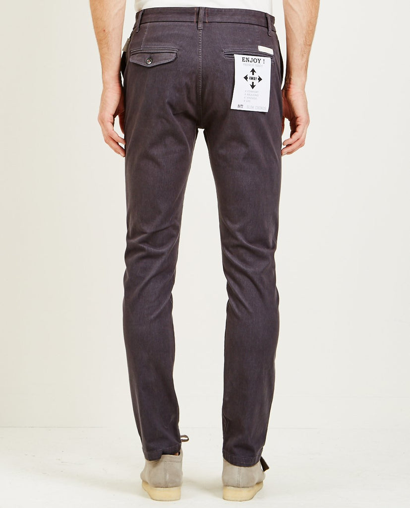 KATO-FRENCH TERRY SLIM CHINO CHARCOAL-Men Pants-{option1]