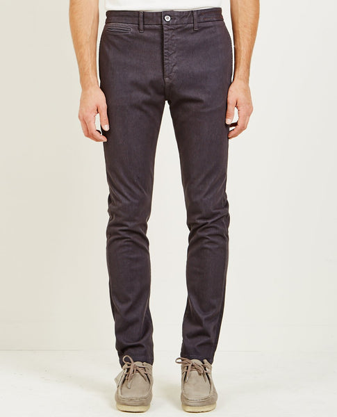 KATO FRENCH TERRY SLIM CHINO CHARCOAL