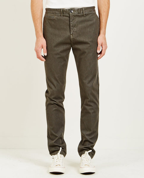 KATO FRENCH TERRY SLIM CHINO MILITARY GREEN