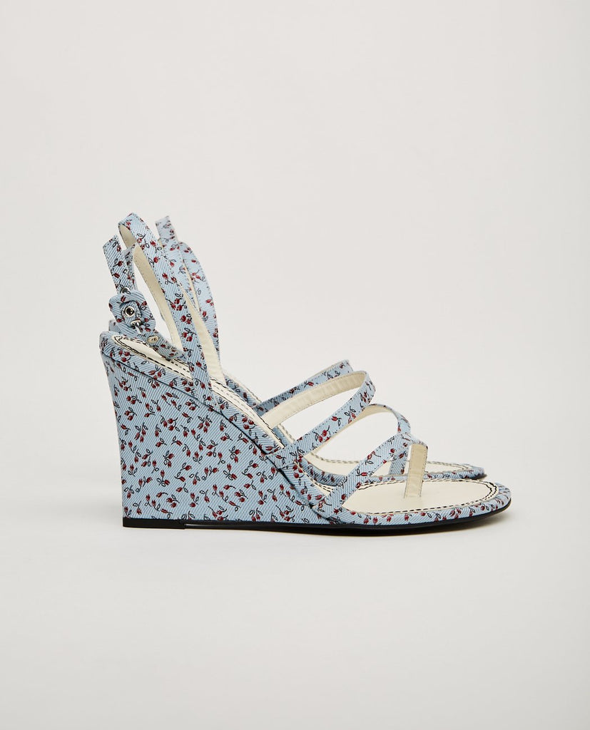 NICOLE SALDANA-GABI - FLORAL PRINT WEDGE-Heels + Wedges-{option1]