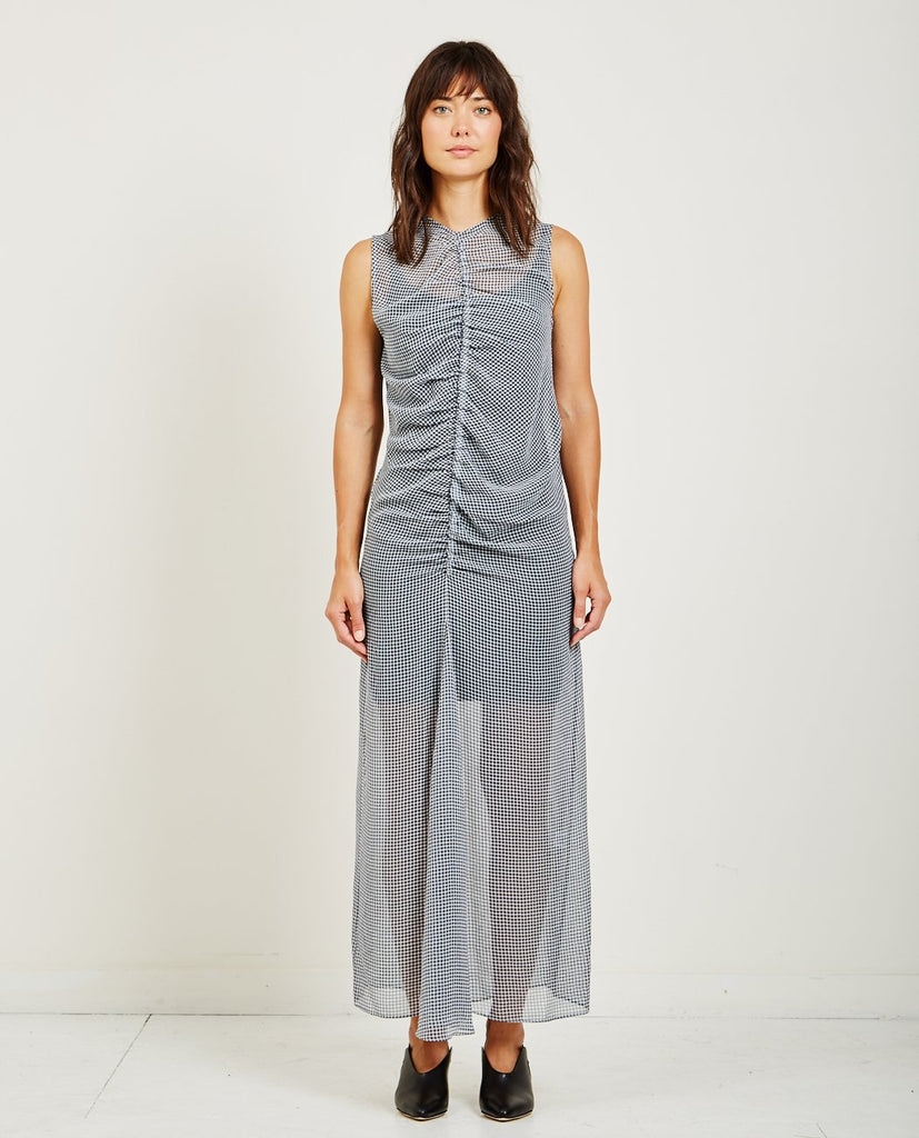NOMIA-GATHERED MAXI DRESS-DRESSES-{option1]