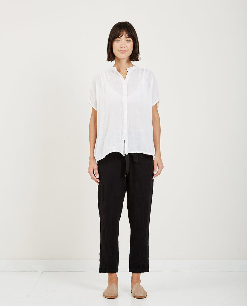 RAQUEL ALLEGRA GAUZE PLEAT BLOUSE