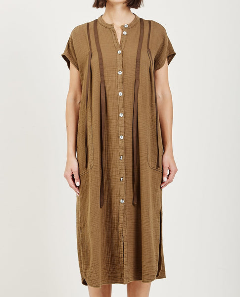 RAQUEL ALLEGRA GAUZE RIBBON DUSTER DRESS