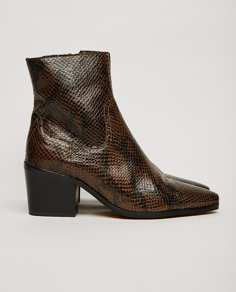 GEORGIA SNAKE PRINT BOOT-SHOE THE BEAR-American Rag Cie