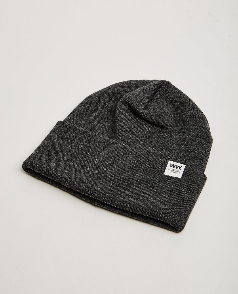 WOOD WOOD-GERALD TALL BEANIE-Men Hats-{option1]