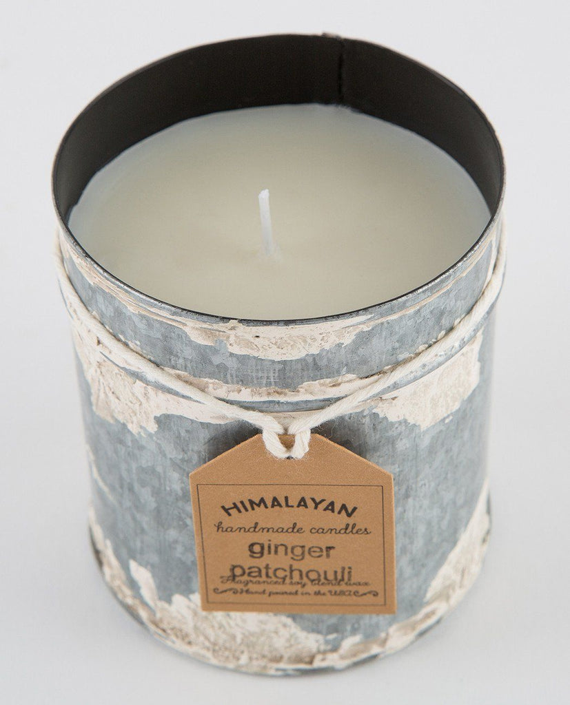 GINGER & PATCHOULI SPICE TIN CANDLE-HIMALAYAN TRADING POST-American Rag Cie