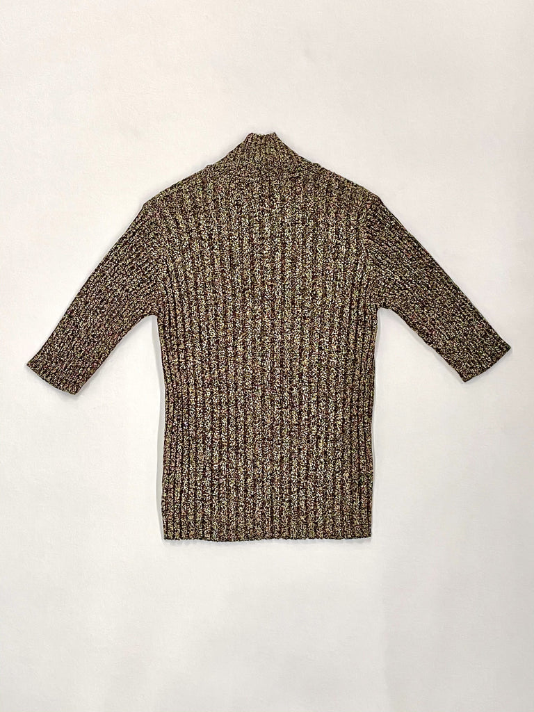 GANNI-Glitter Knit Rollneck-Women Sweaters + Sweatshirts-{option1]