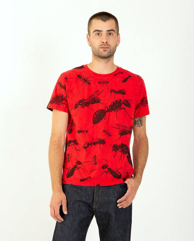 COMME DES GARÇONS PLAY Stacked Red Heart Tee White