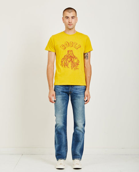 LEVI'S VINTAGE CLOTHING GRAPHIC TEE ROOTS NUGGET GOLD