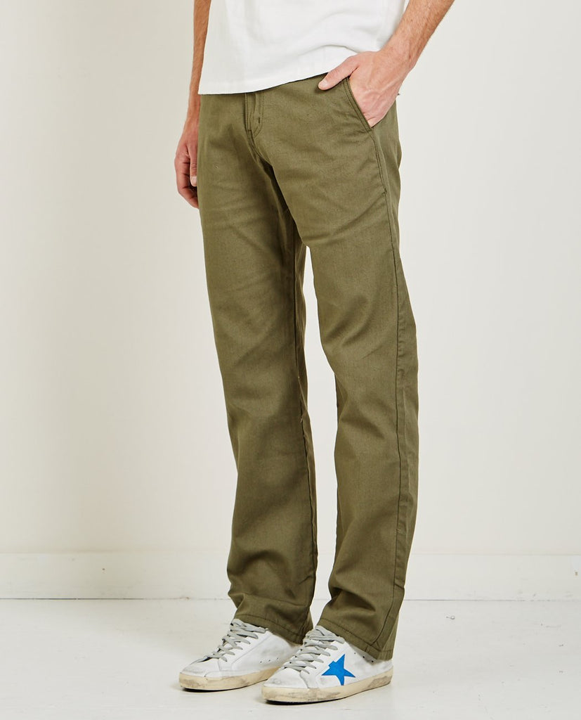 GREEN HEAVY OXFORD CHINO-NAKED & FAMOUS-American Rag Cie
