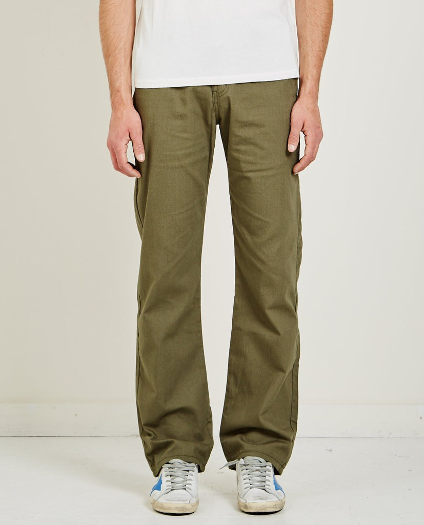 NAKED & FAMOUS-GREEN HEAVY OXFORD CHINO-Men Pants-{option1]