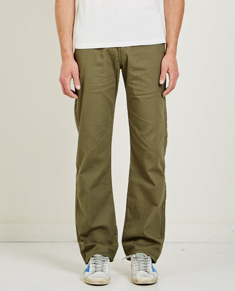 NAKED & FAMOUS GREEN HEAVY OXFORD CHINO