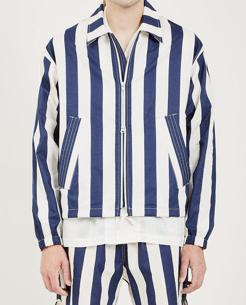 S.K. MANOR HILL HACKNEY JACKET BOLD BLUE STRIPE