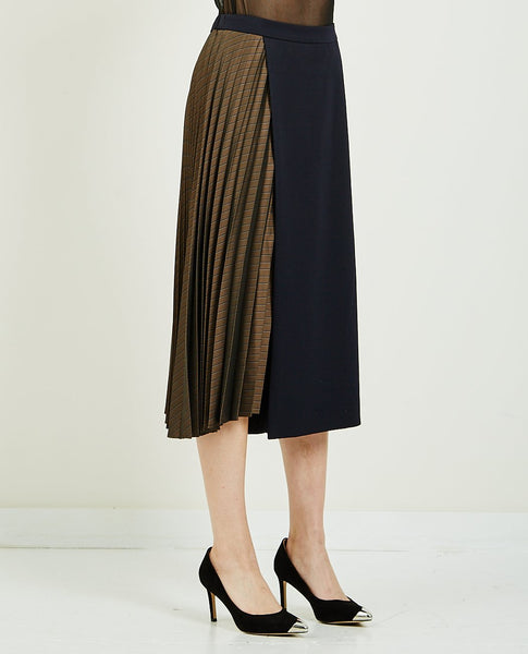 DEMOO HALF PLEATS WIDE PANT
