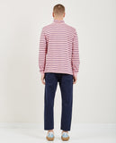TRES BIEN-HALF ZIP REGULAR COTTON STRIPE-Men Sweaters + Sweatshirts-{option1]