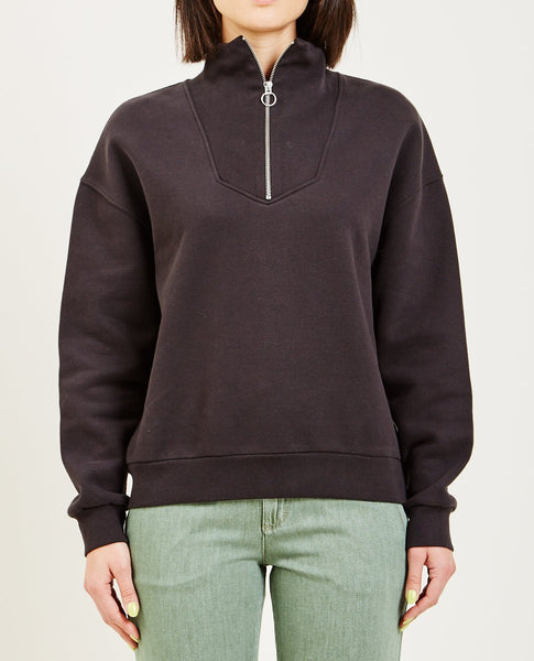 CLOSED HALF ZIP SWEATSHIRT