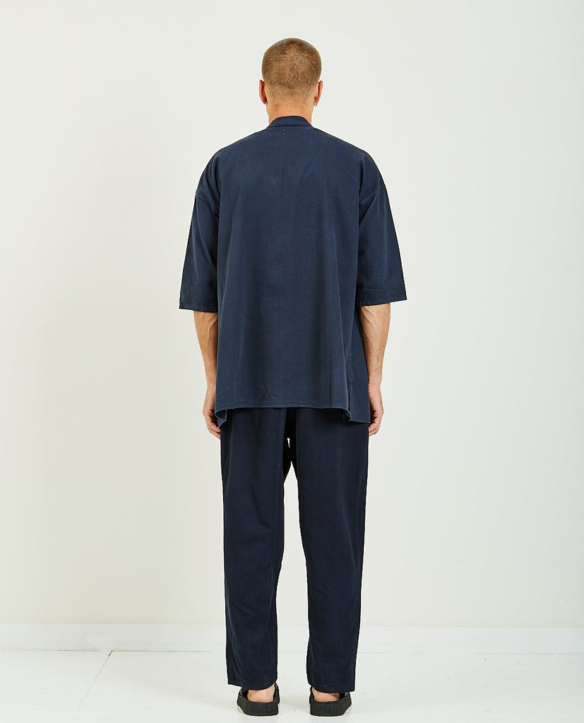 PROSPECTIVE FLOW-HANGI NAVY-Men Shirts-{option1]