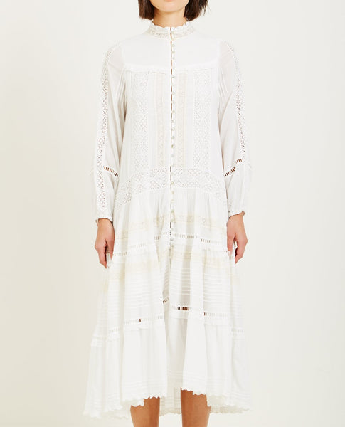SPELL & THE GYPSY HANGING ROCK GOWN WHITE