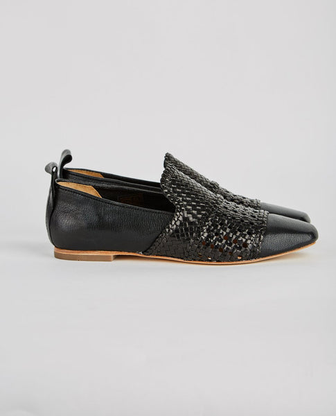 H BY HUDSON HAZEL CALF WOVEN LOAFER
