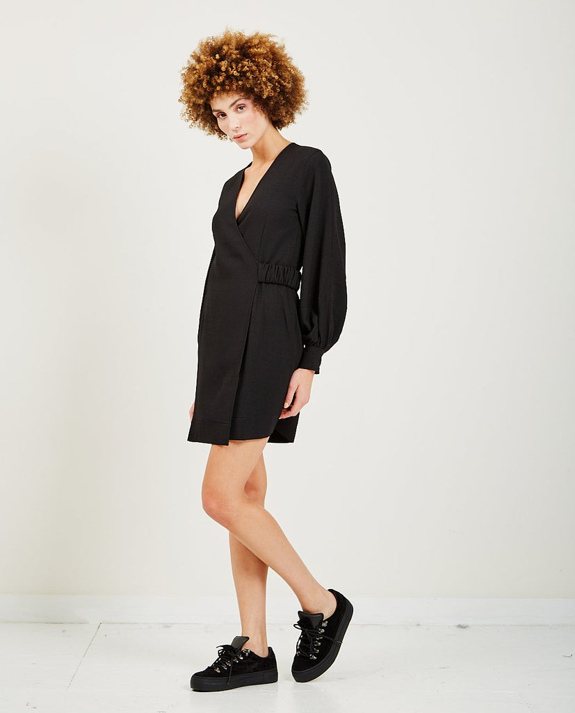 GANNI-Heavy Crepe Mini Dress-DRESSES-{option1]