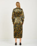 GANNI-HEAVY SATIN WRAP DRESS JACKET-DRESSES-{option1]