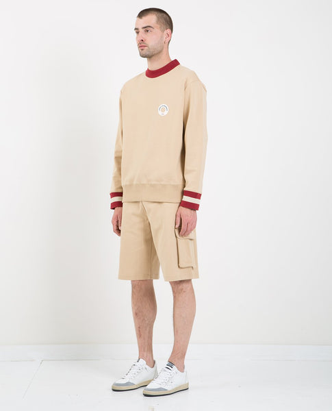 DROLE DE MONSIEUR HEM STRIPPED LOGO SWEATSHIRT