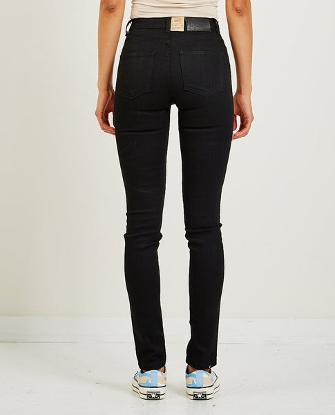 NAKED & FAMOUS HIGH SKINNY JEAN BLACK POWER STRETCH