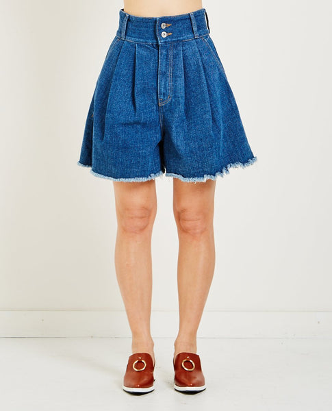 NEUL HIGH WAIST DENIM SHORT
