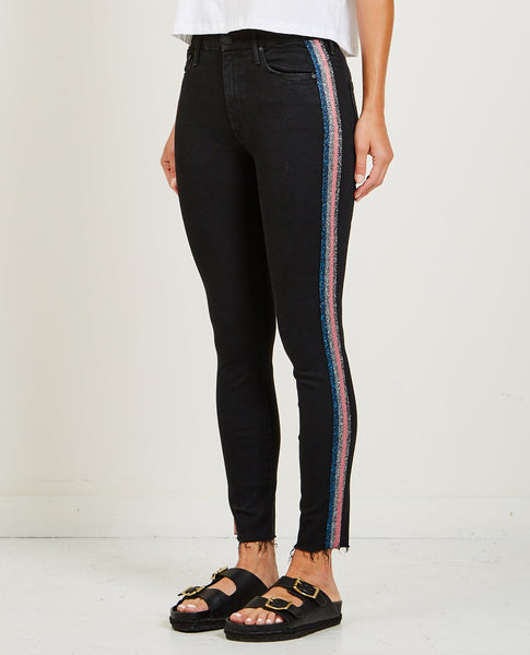 MOTHER HIGH WAISTED LOOKER ANKLE FRAY GUILTY RACER