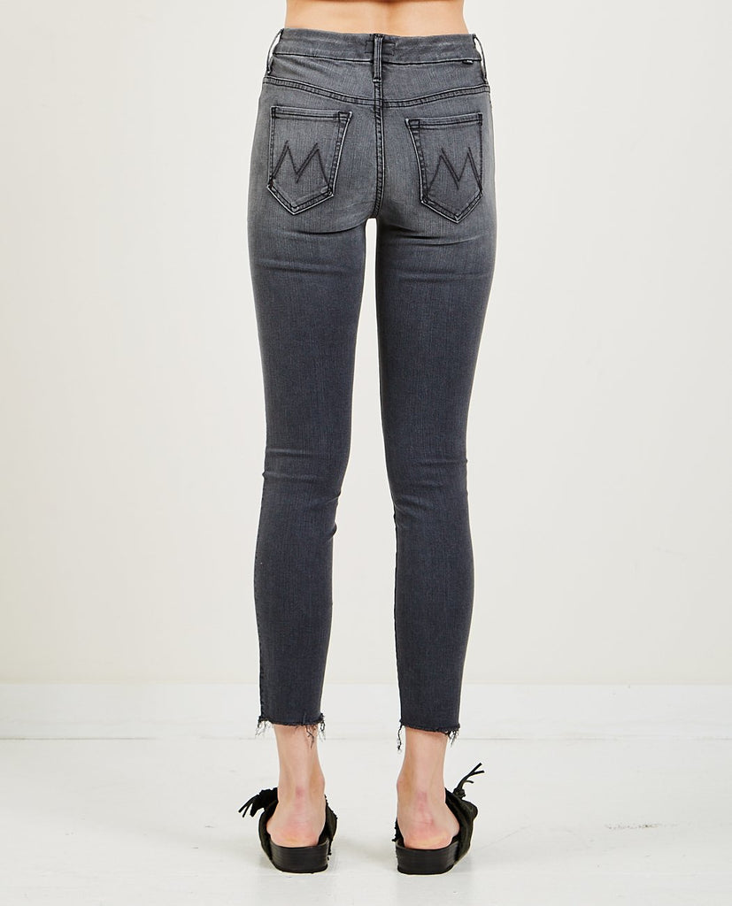 MOTHER-High Waisted Looker Ankle Fray-Women Skinny-{option1]