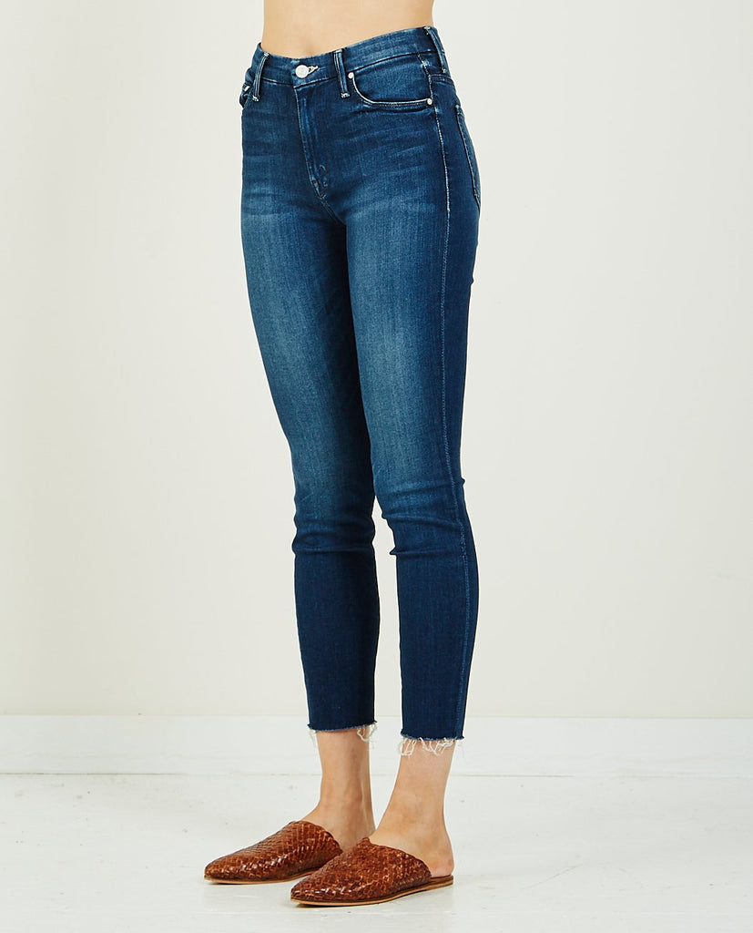 MOTHER-HIGH WAISTED LOOKER ANKLE FRAY TONGUE IN CHIC-Women Skinny-{option1]