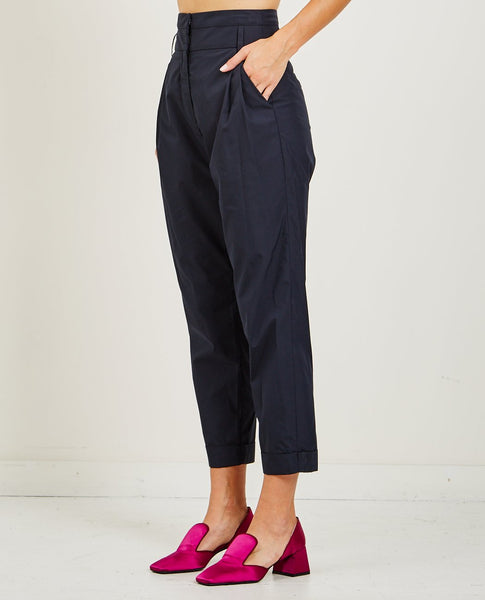 SUZANNE RAE HIGH-WAISTED PLEATED TROUSER