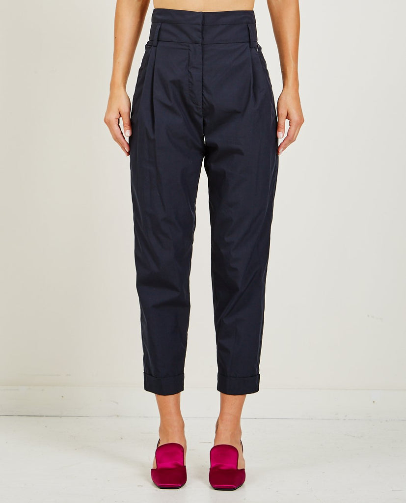 SUZANNE RAE-HIGH-WAISTED PLEATED TROUSER-Women Pants-{option1]