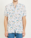 HOLIDAY SHIRT SEA LIFE WHITE-BARNEY COOLS-American Rag Cie