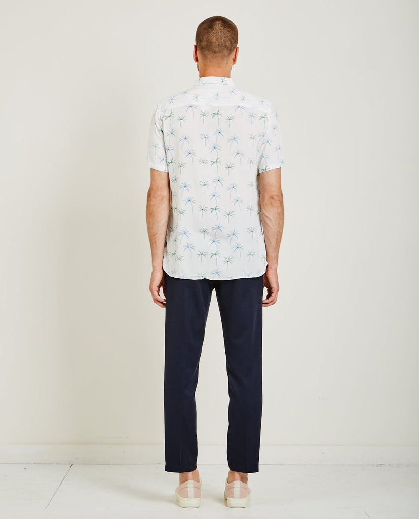 HOLIDAY SHIRT WHITE PALM-BARNEY COOLS-American Rag Cie