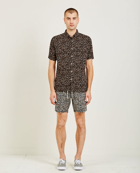 BARNEY COOLS HOLIDAY SHORT SLEEVE SHIRT LEOPARD