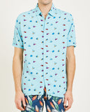 HOLIDAY SHORT SLEEVE SHIRT TROPICAL FISH-BARNEY COOLS-American Rag Cie