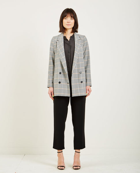 JUST FEMALE HOLMES BLAZER BRIGHT CHECK