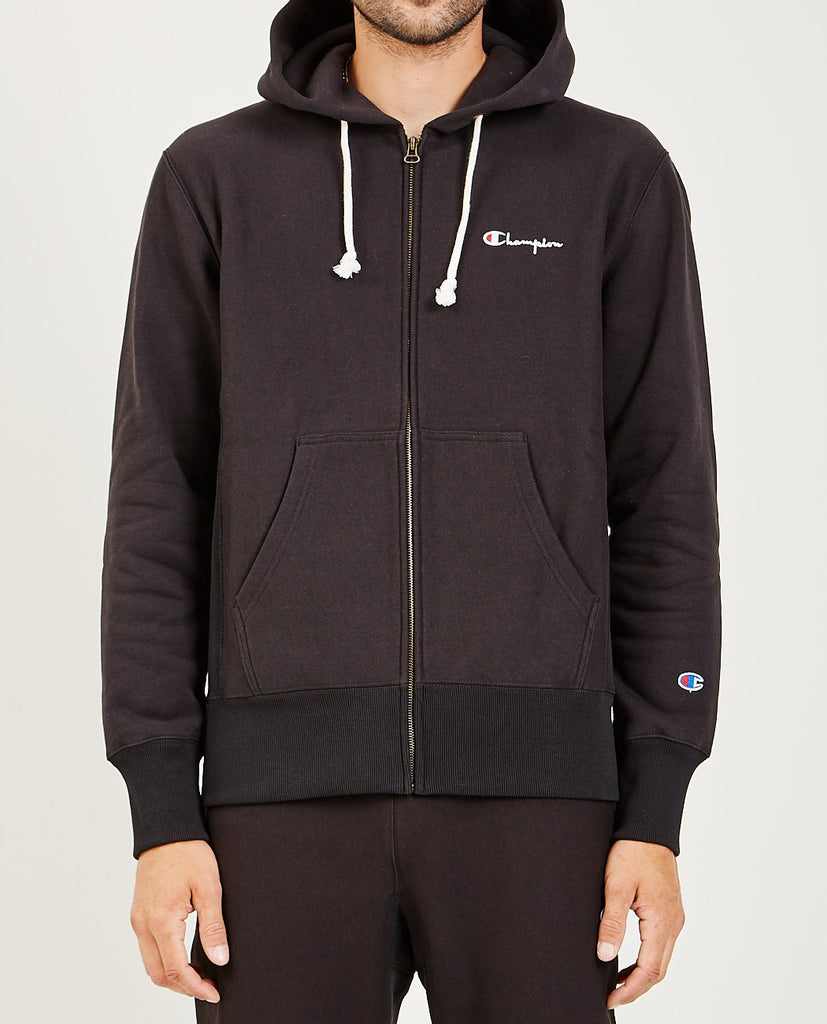 CHAMPION-HOODED FULL ZIP SWEATSHIRT-SALE Men Sweaters + Sweatshirts-{option1]