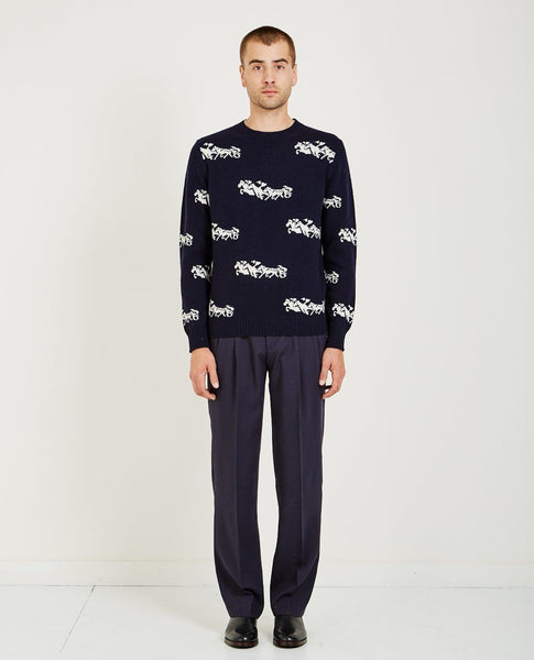 EDITIONS M.R. HORSES JACQUARD SWEATER