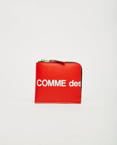 COMME DES GARÇONS WALLET PRINTED DOTS LEATHER LINE ZIP WALLET