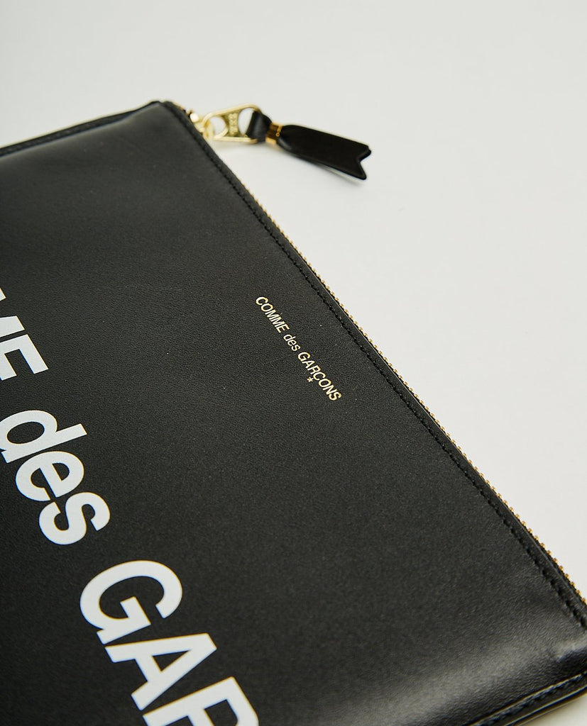 COMME DES GARÇONS WALLET-HUGE LOGO LARGE POUCH-Women Bags + Wallets-{option1]
