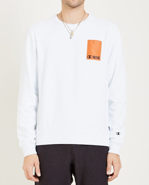CHAMPION X WOOD WOOD HUGO LOGO SWEATSHIRT
