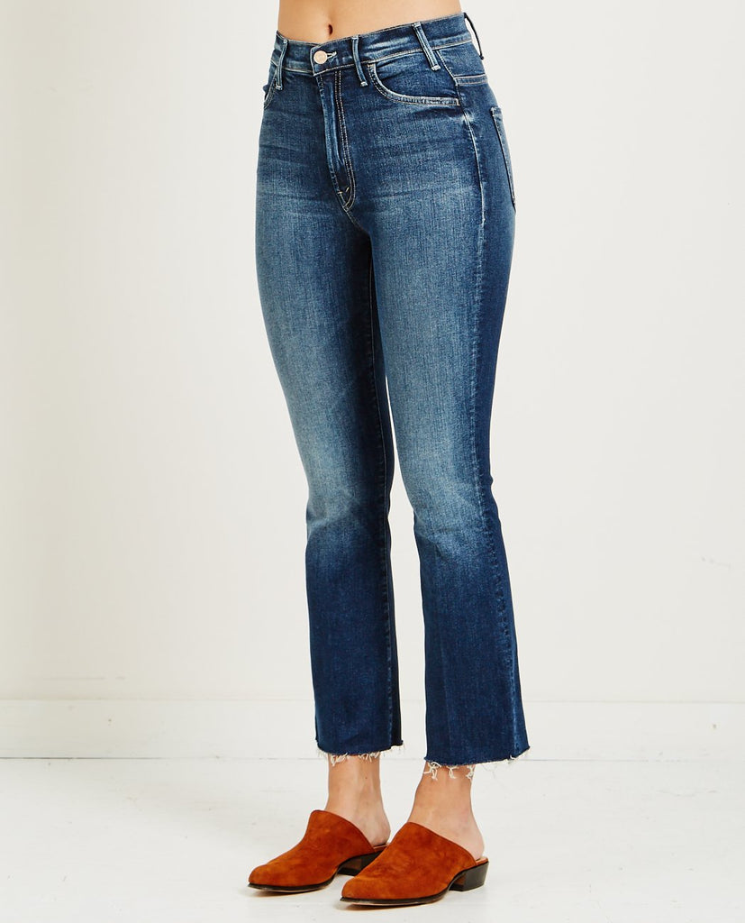 HUSTLER ANKLE FRAY JEAN ON THE EDGE-MOTHER-American Rag Cie