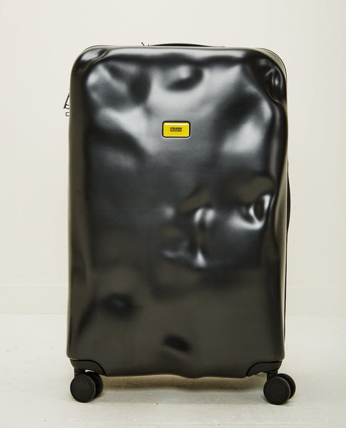 CRASH BAGGAGE ICON LARGE 4 WHEELS BLACK