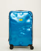 CRASH BAGGAGE-ICON MEDIUM 4 WHEELS METAL BLUE-Men Bags-{option1]