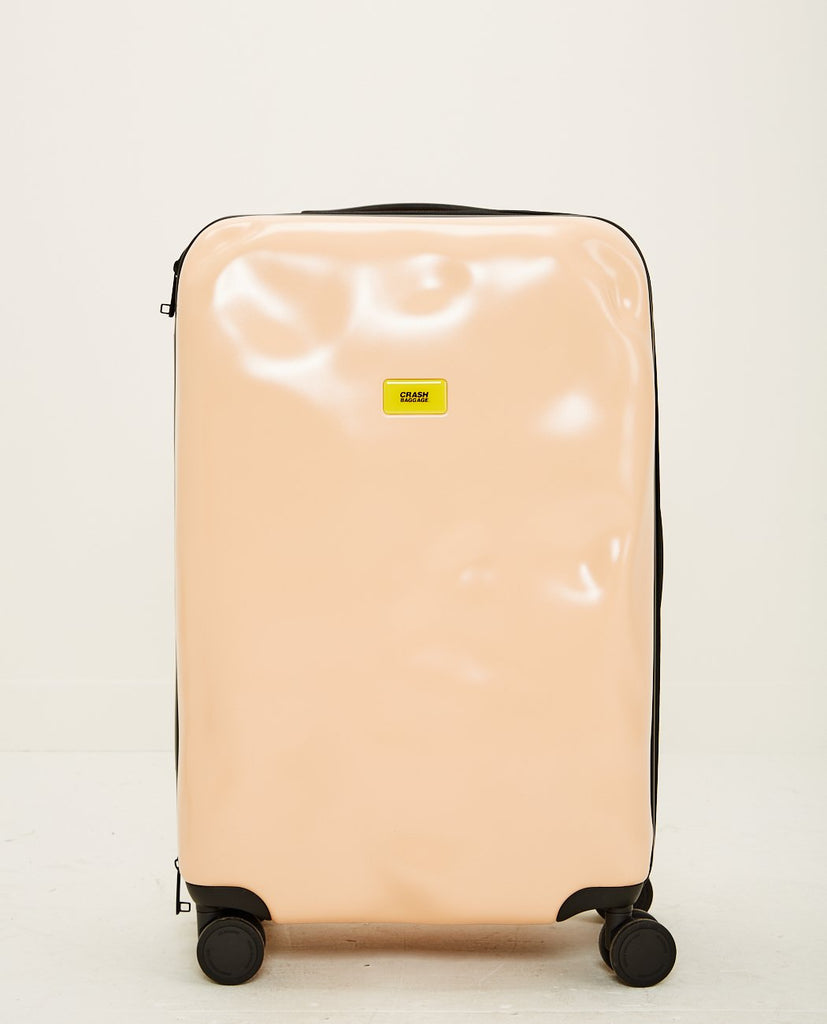 CRASH BAGGAGE-ICON MEDIUM 4 WHEELS PINK-Men Bags-{option1]