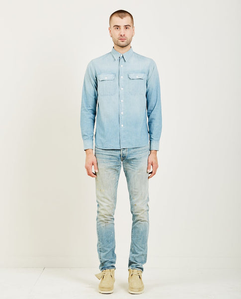 RRL INDIGO CHAMBRAY WORK SHIRT