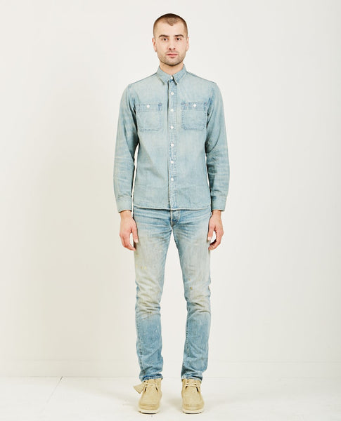 RRL INDIGO DENIM WORK SHIRT