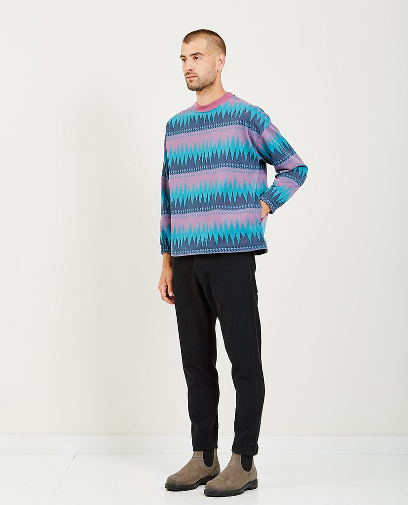 INLAY STITCH CREW SWEATER-REMI RELIEF-American Rag Cie